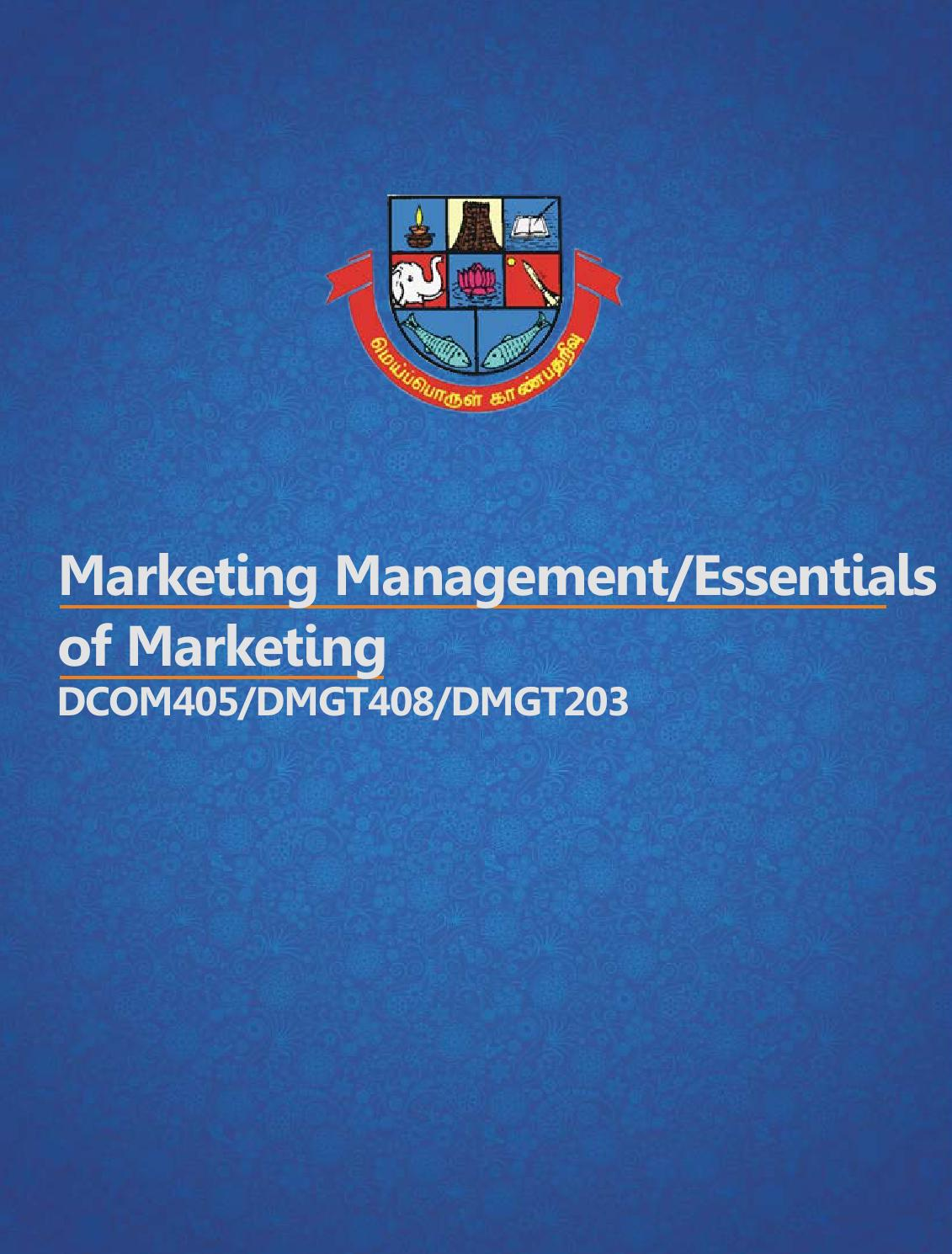 Dcom405 Dmgt408 Marketing Management Dmgt203 Essentials Of Locklock Seasoning Case Liquid 300ml Hte310 By Eduwing Issuu