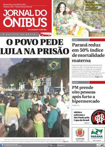 3578bf6ee9 Jornal do Ônibus de Curitiba - 04 04 18 by Editora Correio ...