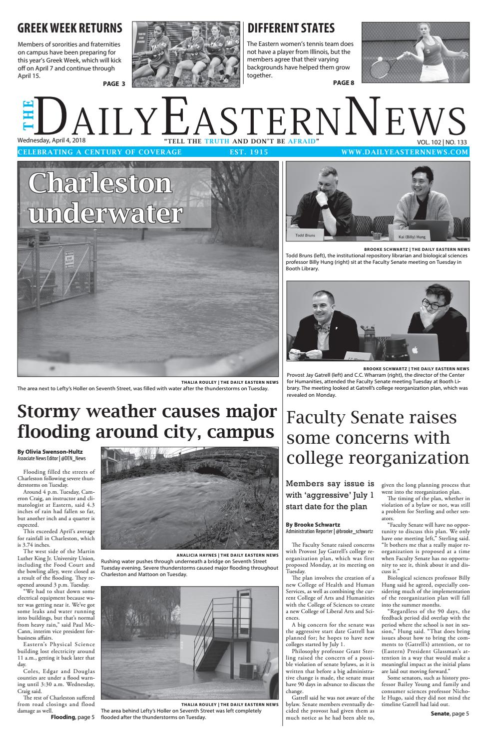 2018 04 04 by The Daily Eastern News - issuu