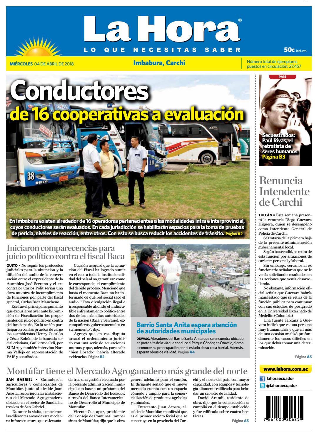 aef09816f9240 Imbabura 04 de abril de 2018 by Diario La Hora Ecuador - issuu