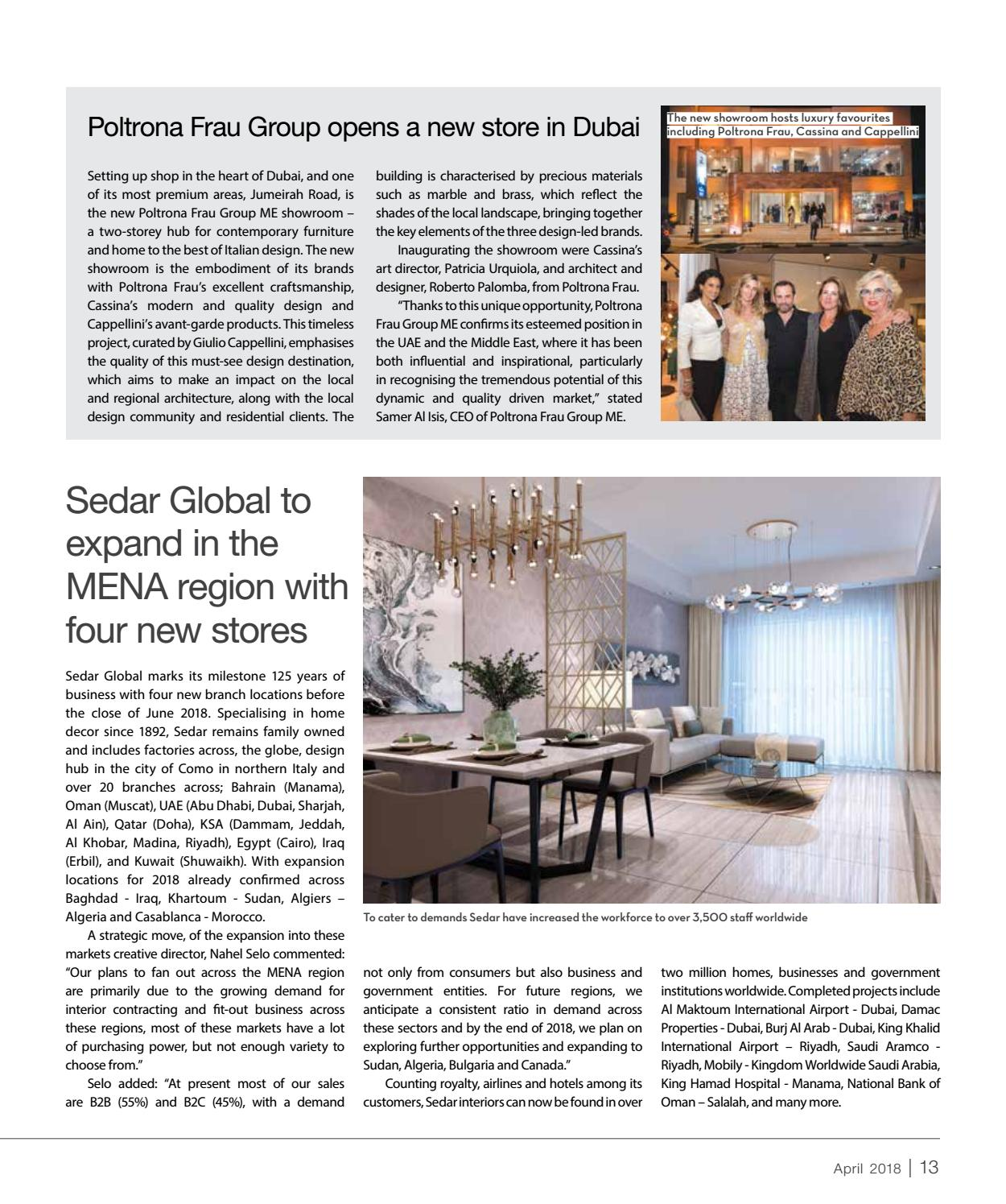 Poltrona Frau Design Bank.Design Middle East April 2018 By Design Middle East Issuu