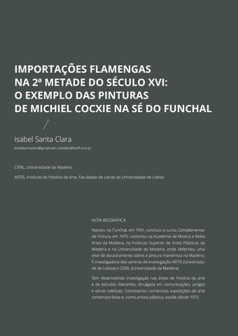 Page 107 of Importações Flamengas na 2ª Metade de Século XVI: O Exemplo das Pinturas de Michiel Cocxie na Sé do Funchal