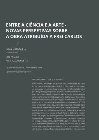 Page 130 of Entre a Ciência e a Arte - Novas Perspetivas Sobre a Obra Atribuída a Frei Carlos
