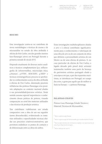 Page 131 of Entre a Ciência e a Arte - Novas Perspetivas Sobre a Obra Atribuída a Frei Carlos