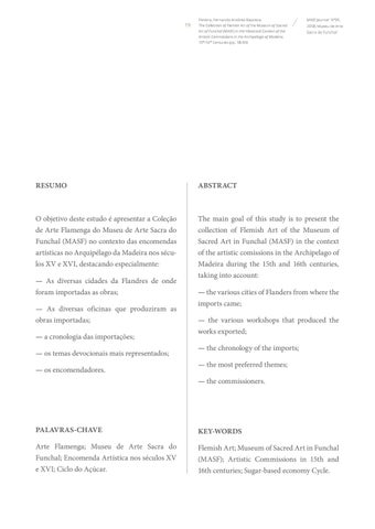 Page 19 of The Collection of Flemish Art of the Museum of Sacred Art of Funchal (MASF) in the Historical Context of the Artistic Commissions in the Archipelago of Madeira, 15th-16th Centuries