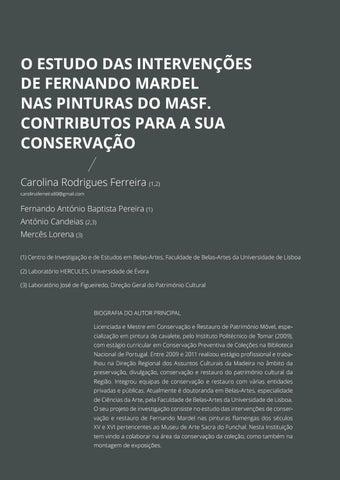 Page 72 of O Estudo das Intervenções de Fernando Mardel nas Pinturas do MASF. Contributos para a sua Conservação