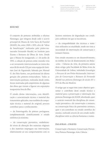 Page 73 of O Estudo das Intervenções de Fernando Mardel nas Pinturas do MASF. Contributos para a sua Conservação