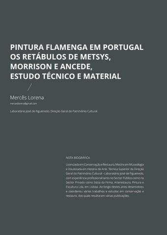 Page 91 of Pintura Flamenga em Portugal: Os Retábulos de Metsys, Morrison e Ancede, Estudo Técnico e Material