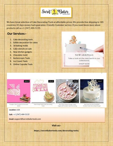 Online bakeware, decorating tools, edible decoration ...