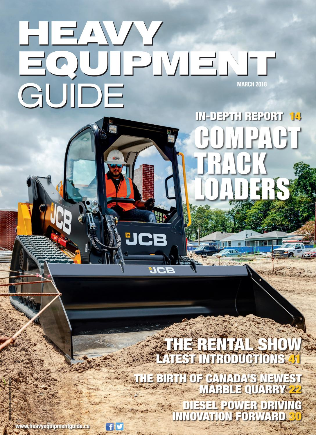 Heavy Equipment Guide March 2018, Volume 22, Number 3 by Baum Publications  Ltd. - issuu