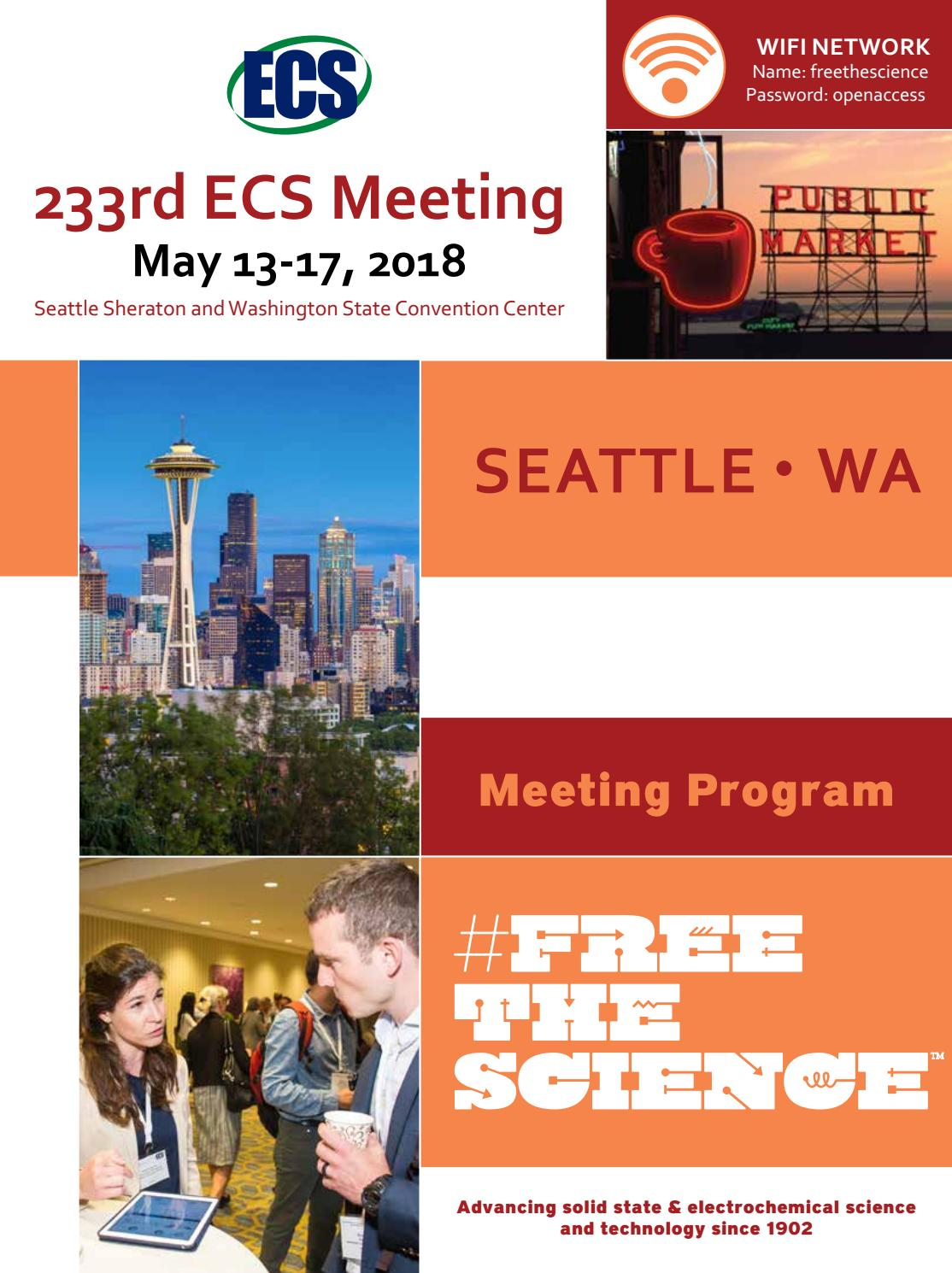 233rd ECS Meeting, Seattle, WA by The Electrochemical