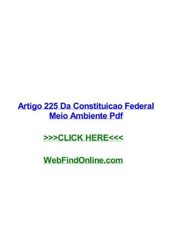 artigo 225 da constituicao federal meio ambiente pdf by loriwcatopage_1_thumb_large jpg