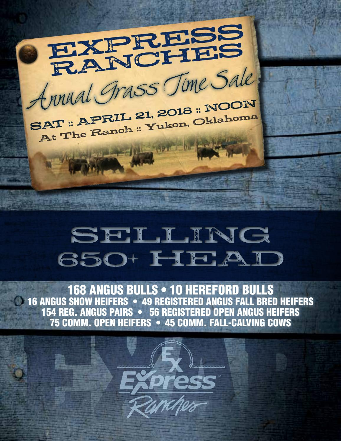 2018 Express Ranches Annual Grass Time Sale By Precision Marketing 10 Digit 0816 Issuu