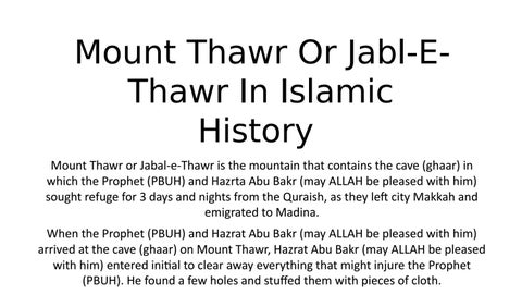 Mount thawr or jabl e thawr in islamic history by Saudi Tours - issuu