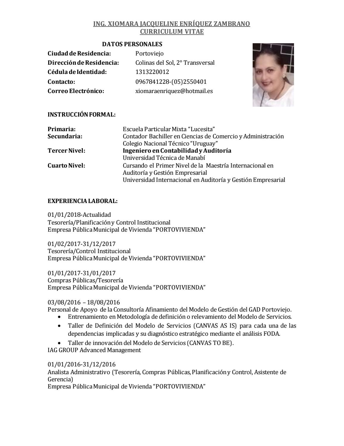 Curriculum Actual Xjez 24 01 2018 1 By Jorgefarfandg Issuu