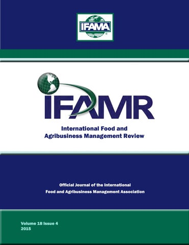 Volume 18 Issue 4 by IFAMA - issuu