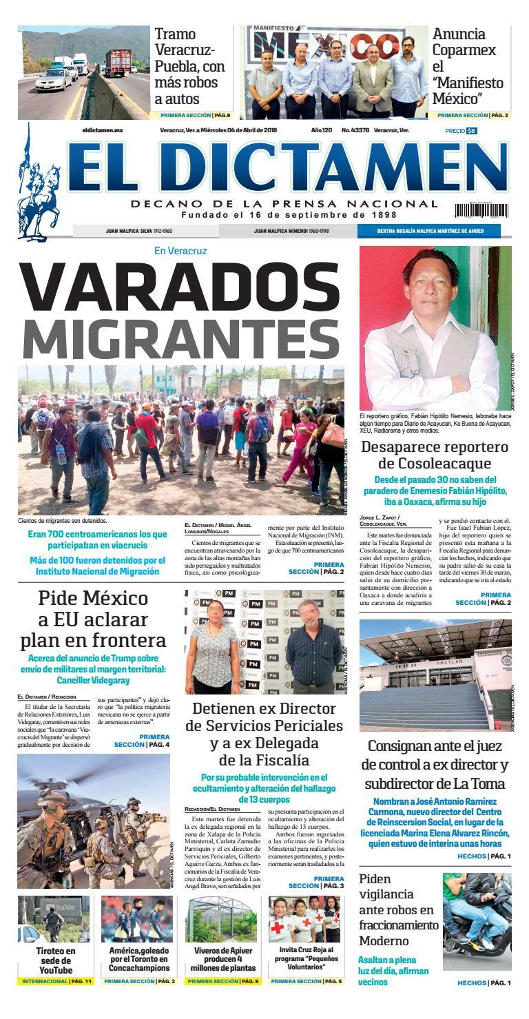 El Dictamen 04 de Abril 2018 by El Dictamen - issuu 33fbe27fd15