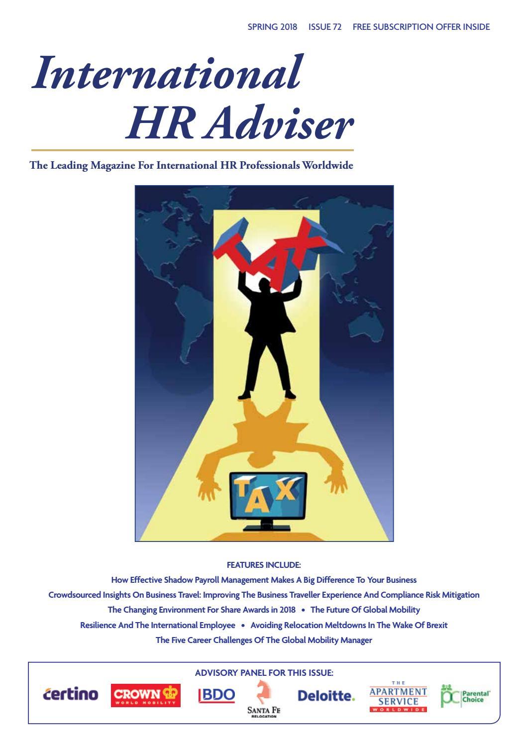 International HR Adviser Spring 2018 by International HR
