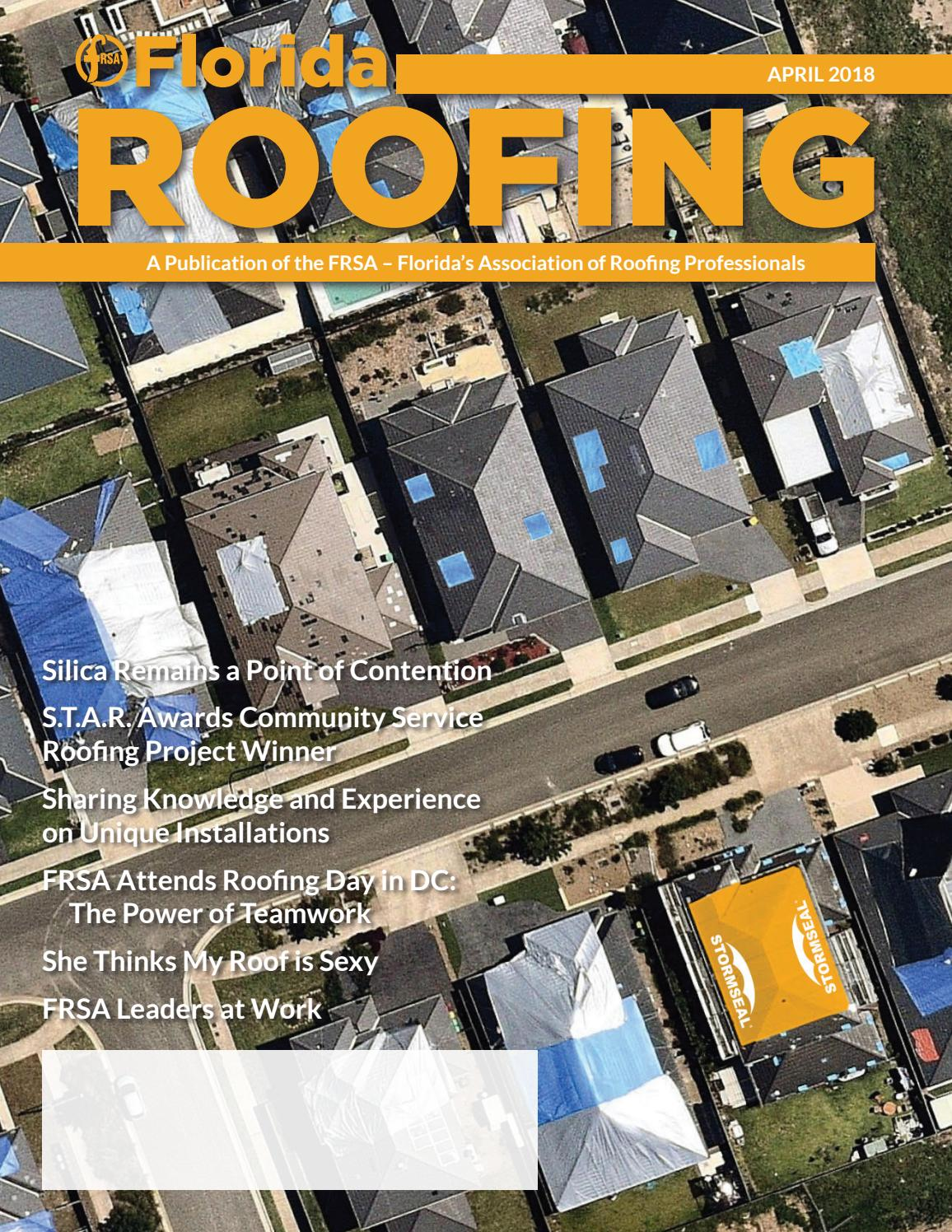 April 2018 By Florida Roofing Magazine Issuu