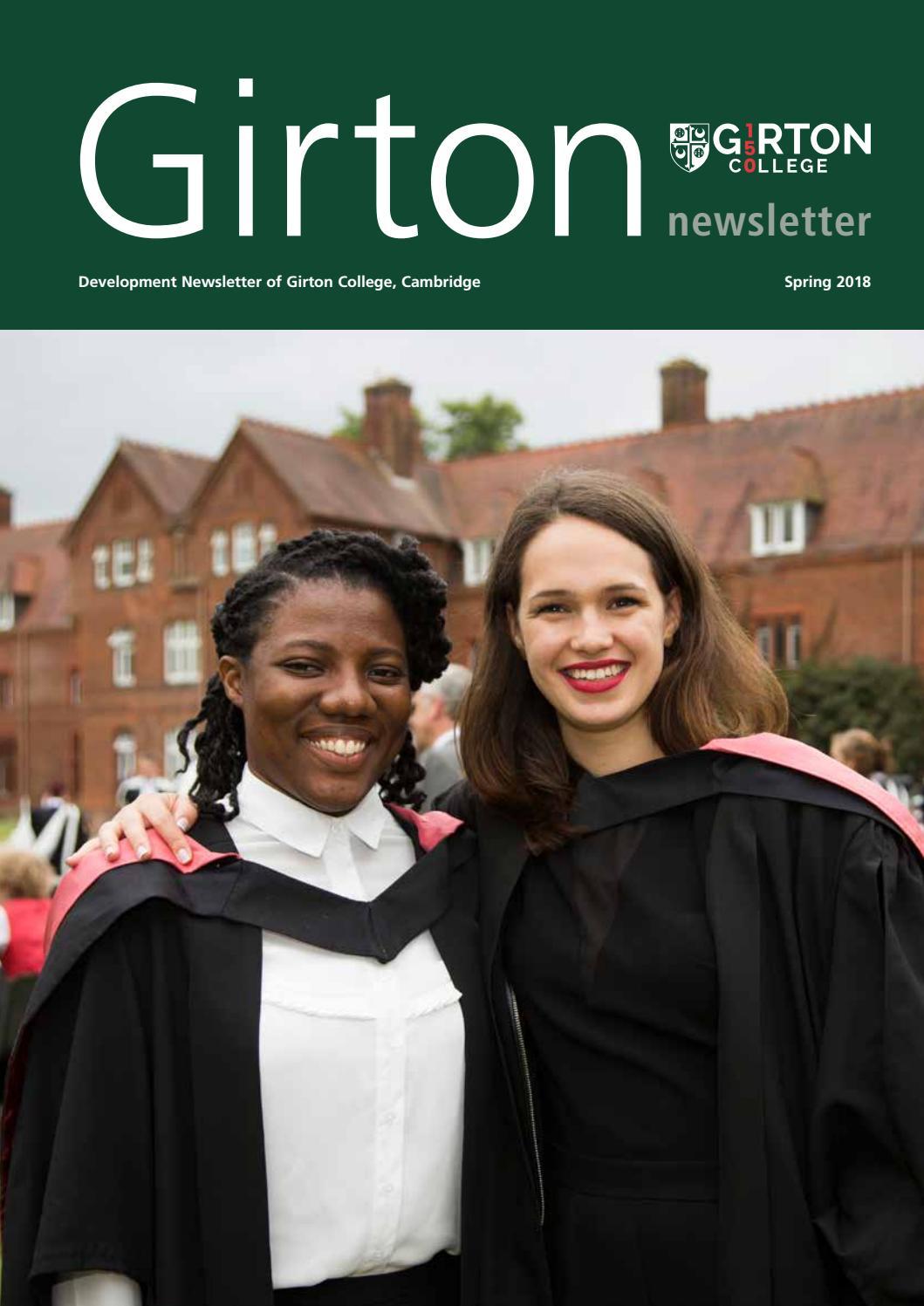 Girton College Newsletter 2018 by Girton College - issuu