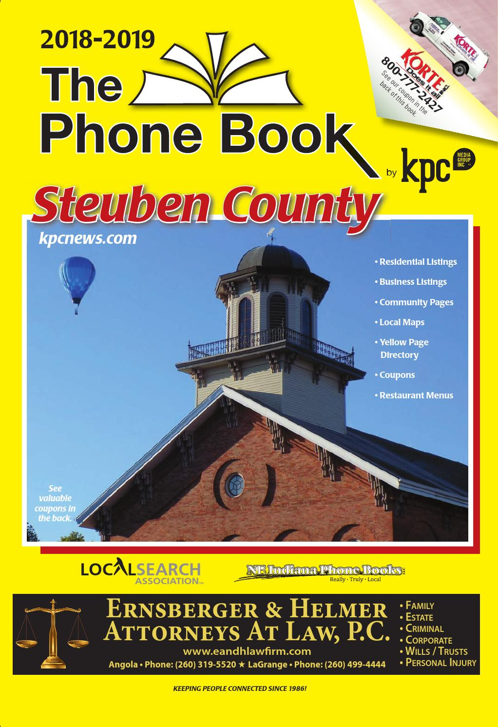quality design 7c9d9 77467 The Phone Book Steuben County 2018-2019 by KPC Media Group - issuu