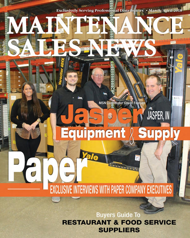 Mar/Apr 2018 Maintenance Sales News by Maintenance Sales
