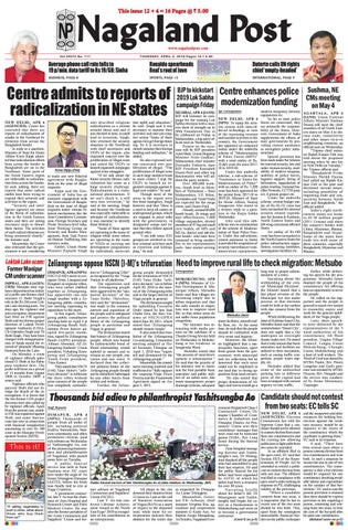 April 5, 2018 by Nagaland Post - issuu