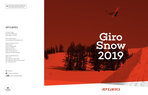 bdae7d316d3 Giro Snow 2019 Catalog by Brendan Murphey - issuu