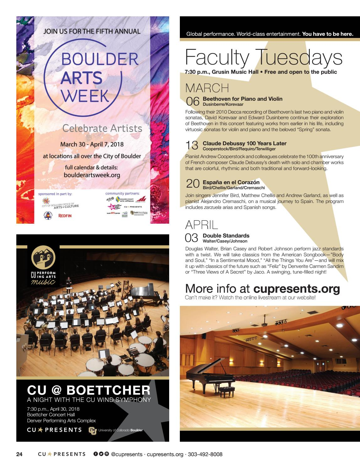 CU Presents Magazine Winter 2018, March 24, 2018 by The