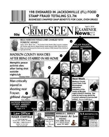 The CrimeSEEN Examiner News April 5, 2018 by CrimeSEEN