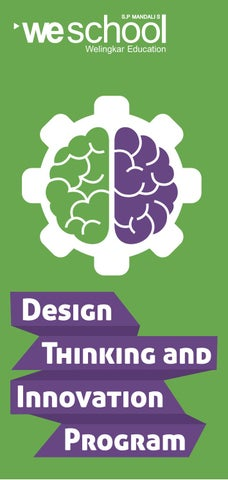 Design Thinking and Innovation Program by Weschool