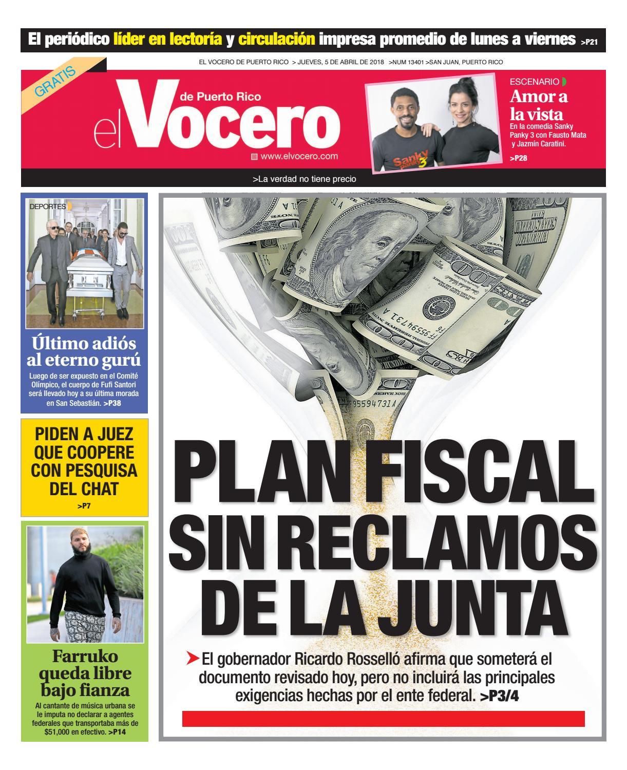 03084a4f3 Edición del 5 de abril de 2018 by El Vocero de Puerto Rico - issuu