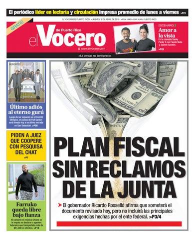 Edición del 5 de abril de 2018 by El Vocero de Puerto Rico - issuu