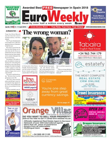 new concept 51267 eae9f Euro Weekly News - Costa Blanca North 5 March - 11 April 2018 Issue ...