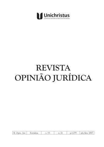 88ee3d314d Revista opinião jurídica nº 21 by Unichristus - issuu