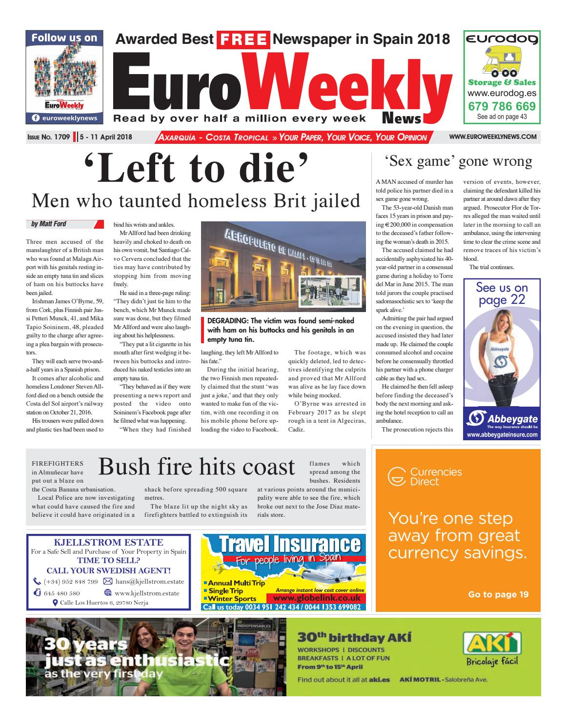 31f6b49b6ff291 Euro Weekly News - Axarquia 5 March - 11 April 2018 Issue 1709 by ...