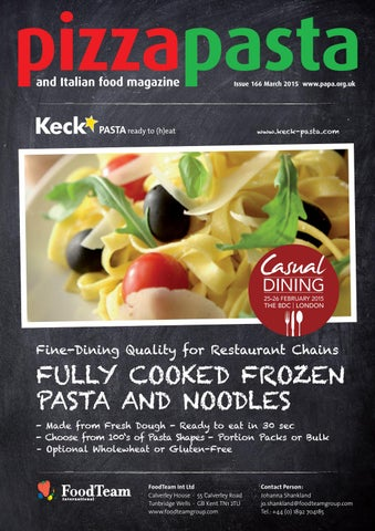 Pizza Pasta Italian Food Issue 166 By Jandmgroup Issuu