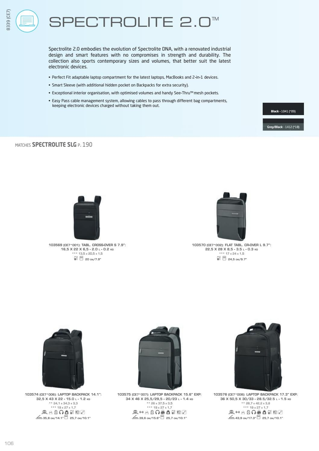 096af6a5b4 Samsonite Spectrolite 2.0 Laptop Backpacks 14.1 Laptop – TLMODA