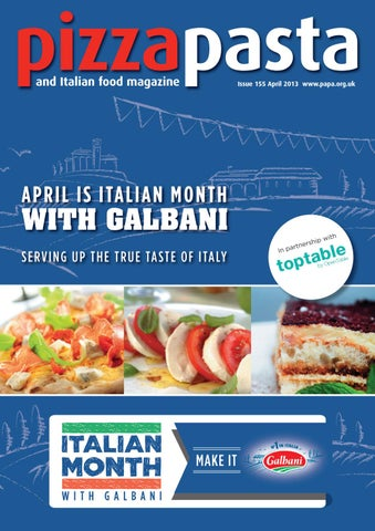 Pizza Pasta Italian Food Issue 155 By Jandmgroup Issuu
