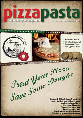 Pizza Pasta Italian Food Issue 146 By Jandmgroup Issuu