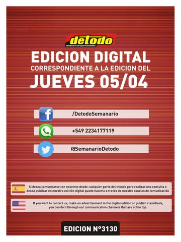 Semanario Detodo Edición N° 3130 05042018 by Semanario