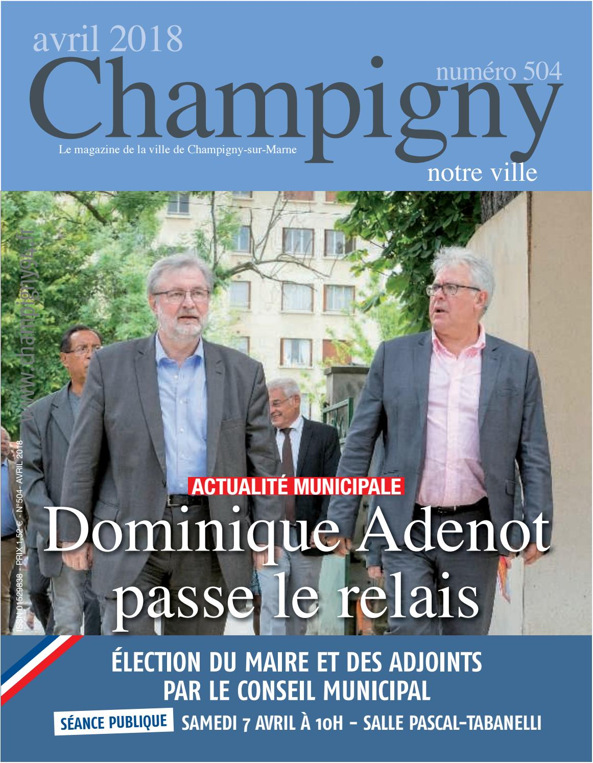 Champigny notre ville n° 504 - avril 2018 by N R - issuu 36be4bd45880