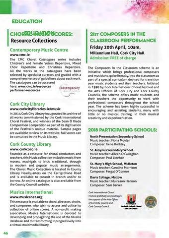 Cork International Choral Festival - 2018 Programme