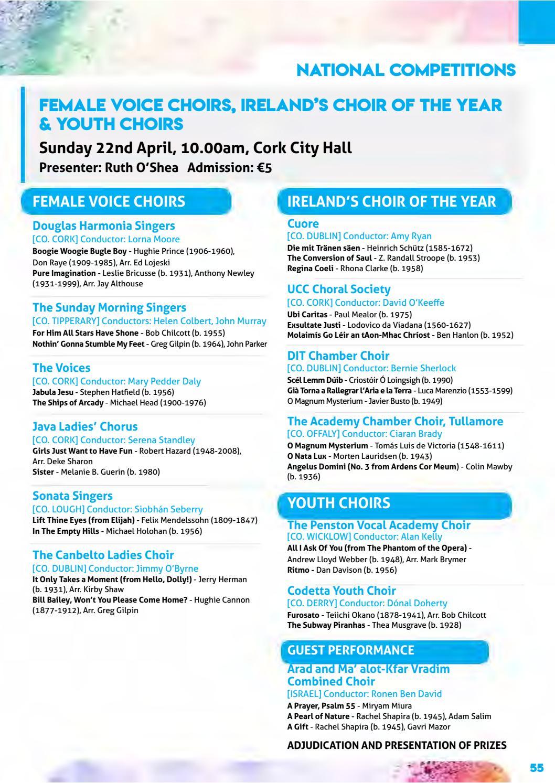 Cork International Choral Festival - 2018 Programme by Cork