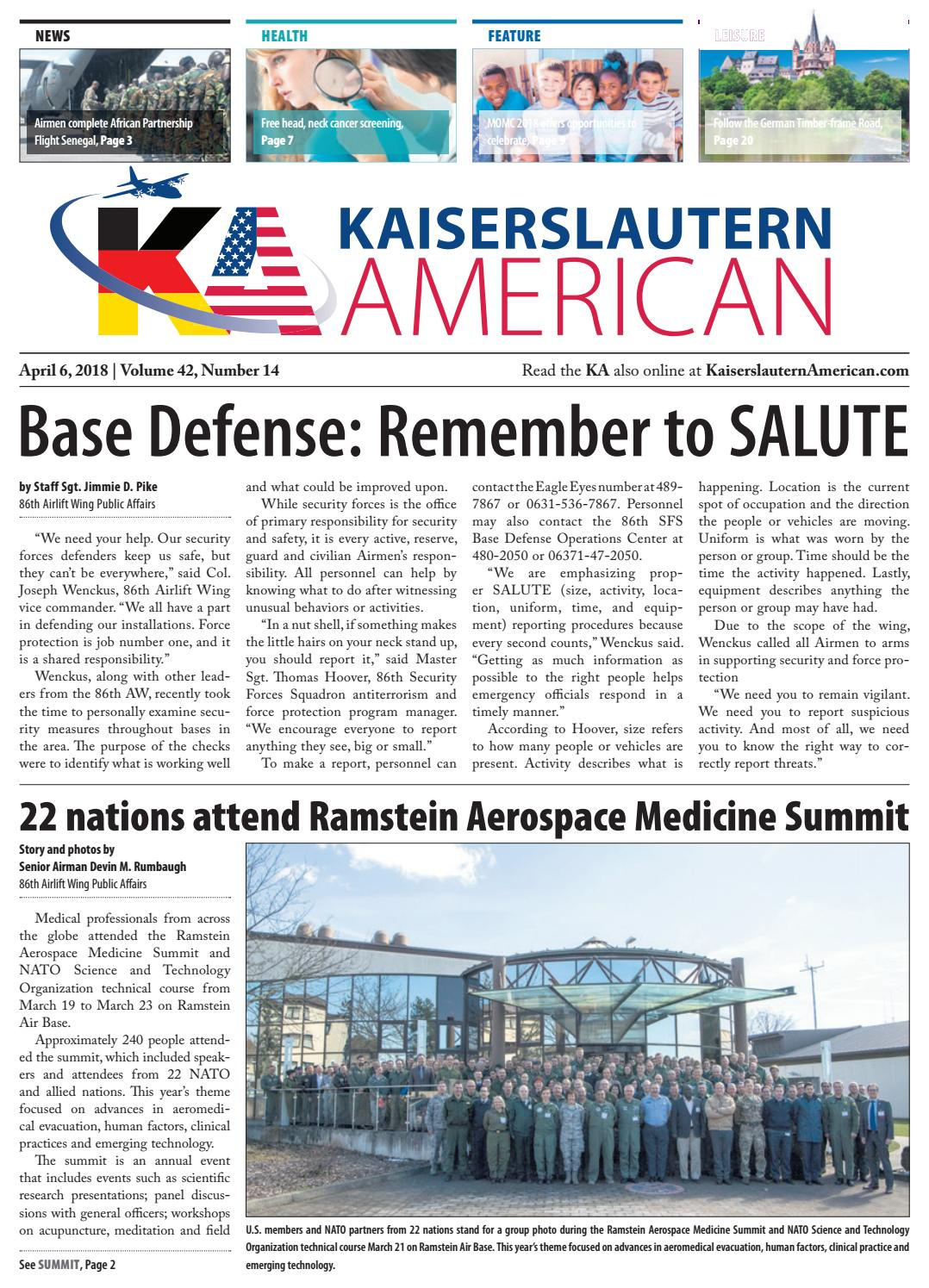 Kaiserslautern American April 6 2018 By Advantipro Gmbh Issuu Electric Guitar Wiring For Dummies Free As Well Volvo Wx