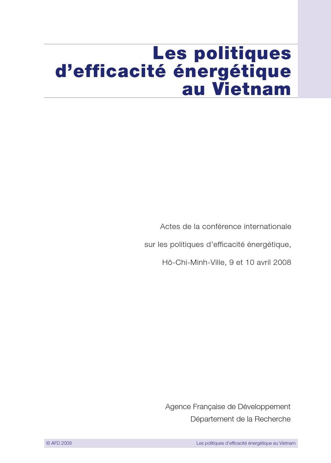 30acf2200f52fc Les politiques d efficacité énergétique au Vietnam by Agence Française de  Développement - issuu
