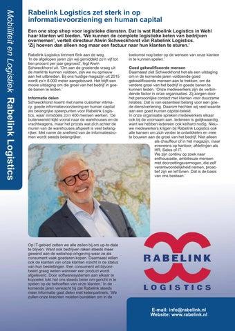 Page 2 of Rabelink Logistics en Regio West-Brabant