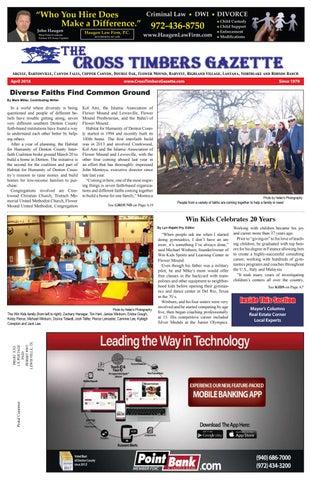 The Cross Timbers Gazette April 2018 - Cross Timbers Gazette | Southern  Denton County | Flower Mound | News