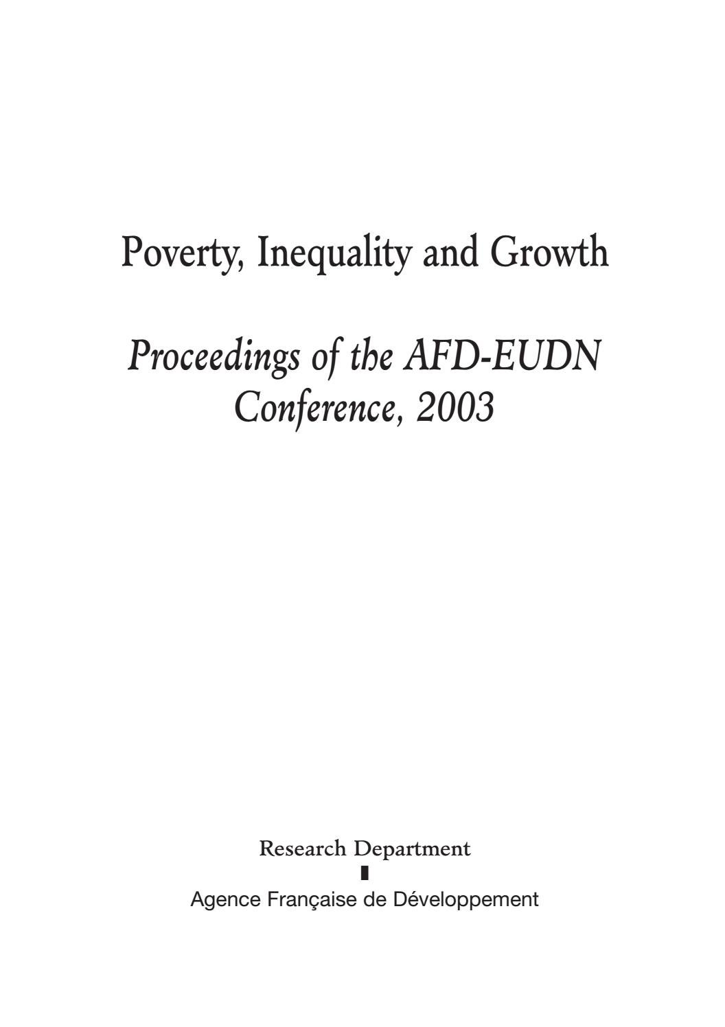 Dresser Une Table À L Anglaise poverty, inequality and growth proceeding of the afd-eudn