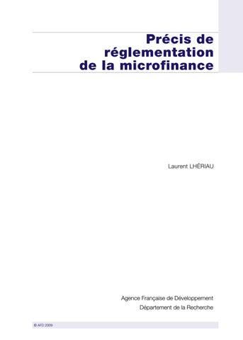 Précis de réglementation de la microfinance by Agence Française de ... d849464a0487